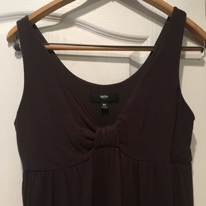 Brown cotton stretchy Mossimo dress.